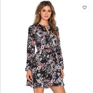 Revolve Eight Sixty Floral Fall Black Dress